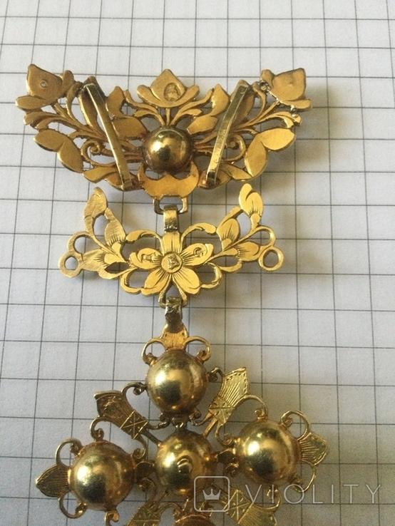Старинное украшение, золото и алмазы, фото №6