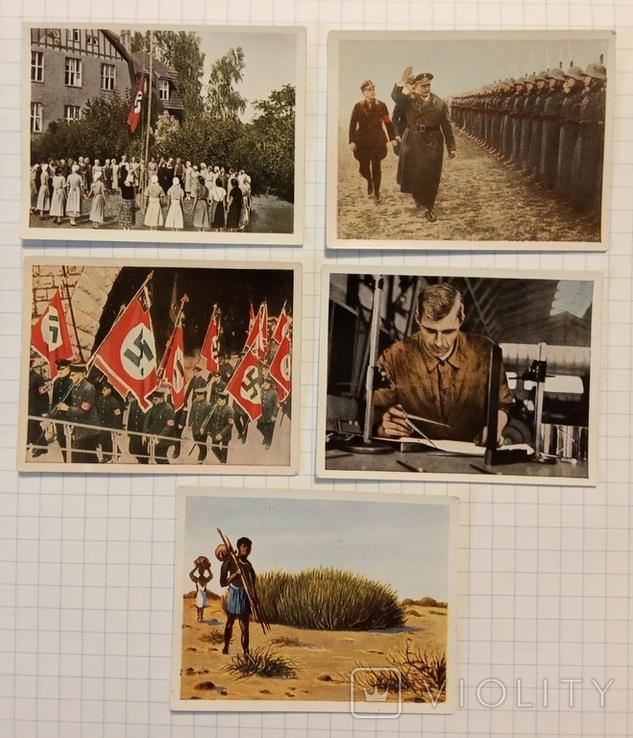 Нацистская Германия сигаретные вкладыши пять штук, фото №2