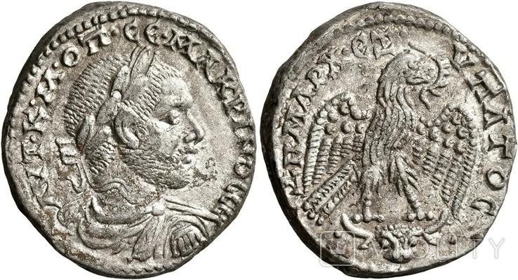 Макрин тетрадрахма Месопотамии