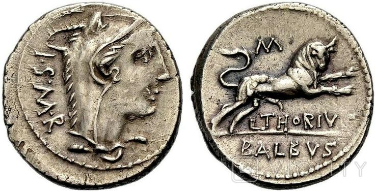 Республиканский денарий 105 г. до н. э., фото №2
