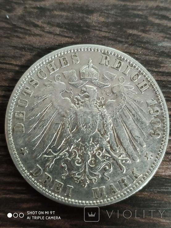 3 марки 1909г.Вюртенберг, фото №3
