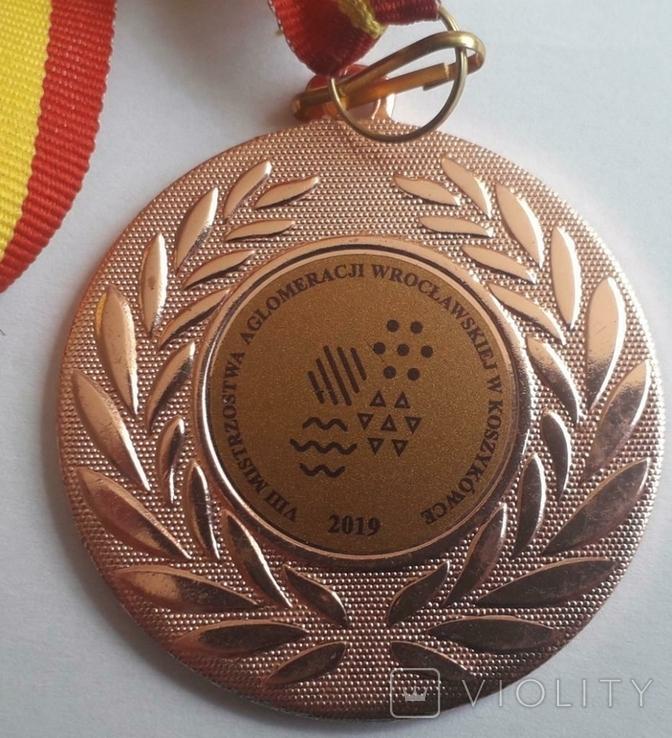 Спортивна Медаль VIIІ Mistrzostwa aglomeracji Wroczlawskiej w koszykowce 2019, фото №4