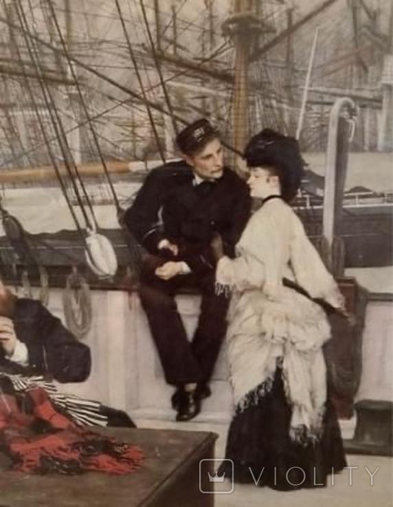 Капитан и помощник, Джеймс Тиссо. Репродукция, фото №4