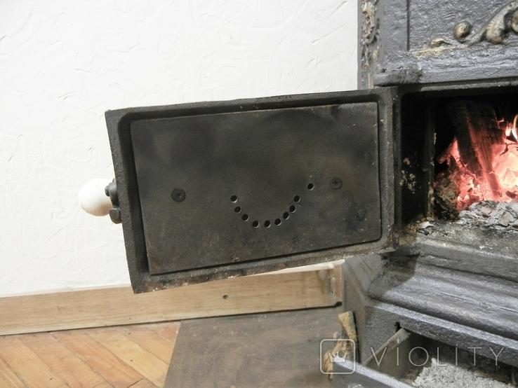 """Пічка ор. 1850 року з гербом заводу """"Залізний молот"""" графа Шенборна. Буржуйка., фото №4"""