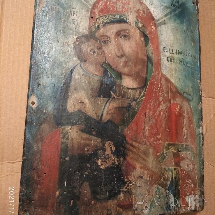 Икона Пресвятой Богородицы матери  божьей,19 век., фото №2