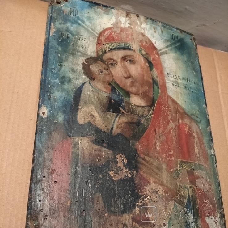 Икона Пресвятой Богородицы матери  божьей,19 век., фото №6