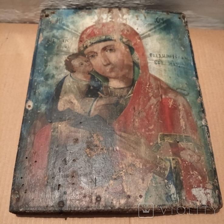 Икона Пресвятой Богородицы матери  божьей,19 век., фото №9