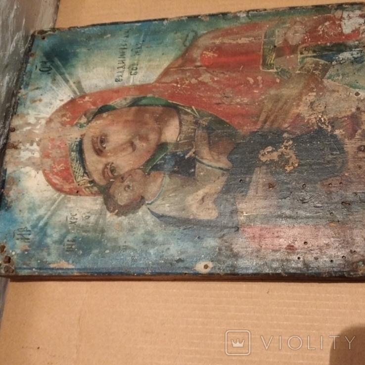 Икона Пресвятой Богородицы матери  божьей,19 век., фото №10