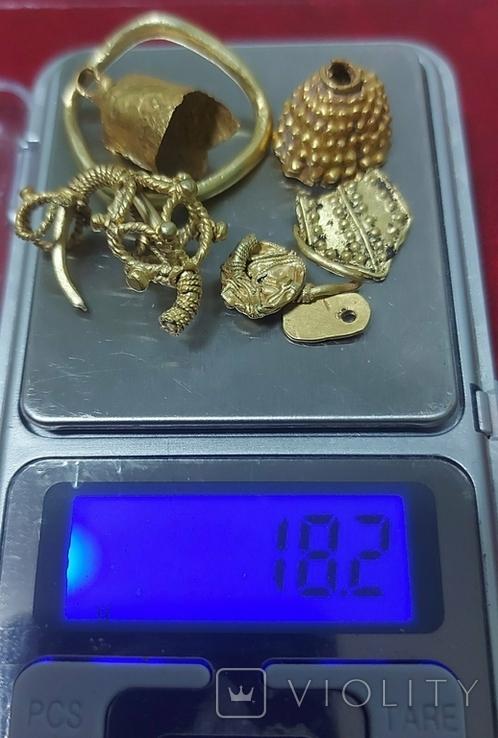 Античное золото Скифы, КК, Готы, ЧК, вес - 18.2 грамм.