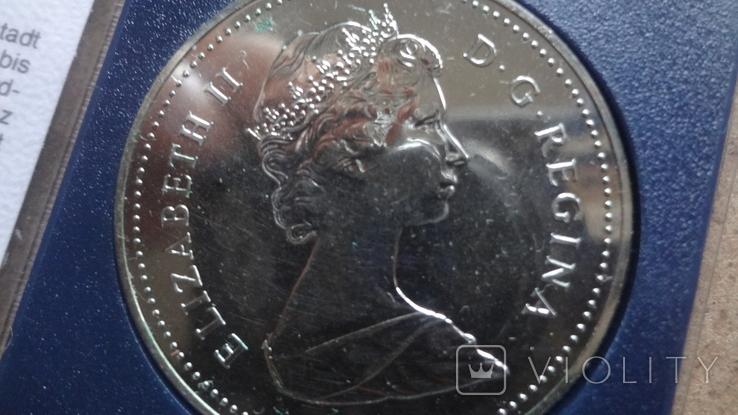 1 доллар 1982 Канада Реджайна Сертификат серебро, фото №7