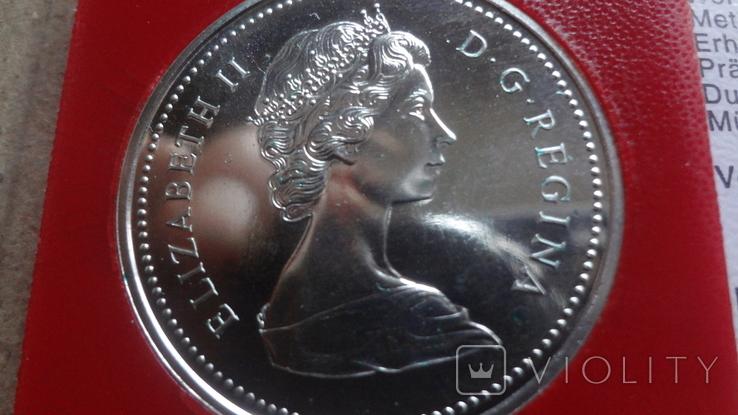 1 доллар 1974 Канада Виннипег Сертификат серебро, фото №7