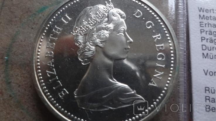 1 доллар 1971 Канада Британская Колумбия Сертификат серебро, фото №8