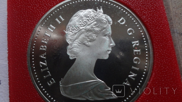 1 доллар 1981 Канада Трансконтинентальная железная дорога Сертификат серебро, фото №8