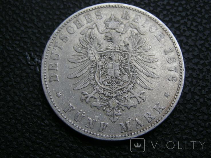 5 марок 1876 J Гамбург, фото №7