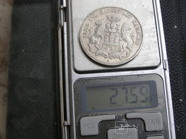 5 марок 1876 J Гамбург, фото №11