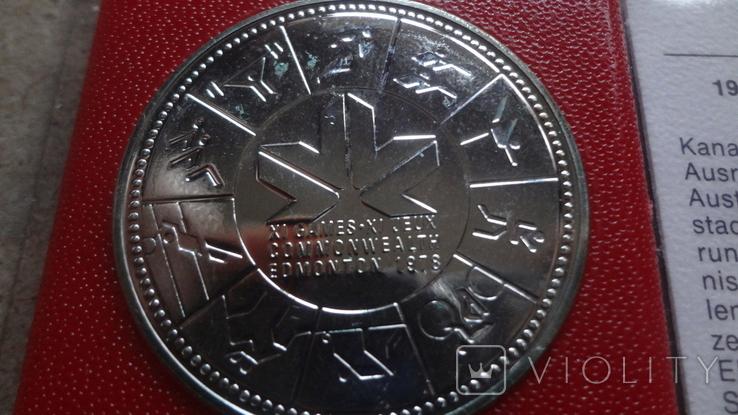1 доллар 1978 Канада Олимпиада Сертификат серебро, фото №4