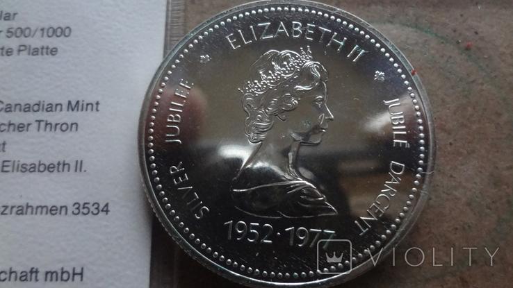 1 доллар 1977 Канада 5 лет коронации Елизаветы II Сертификат серебро, фото №6