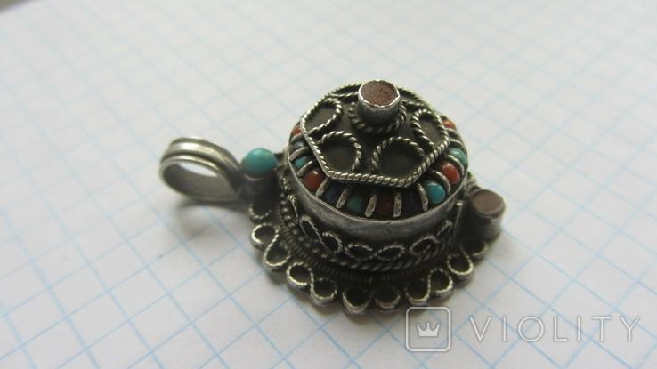 Старинный кулон. Тибет. Серебро., фото №2