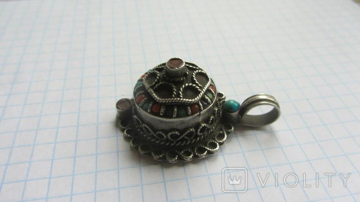 Старинный кулон. Тибет. Серебро., фото №4