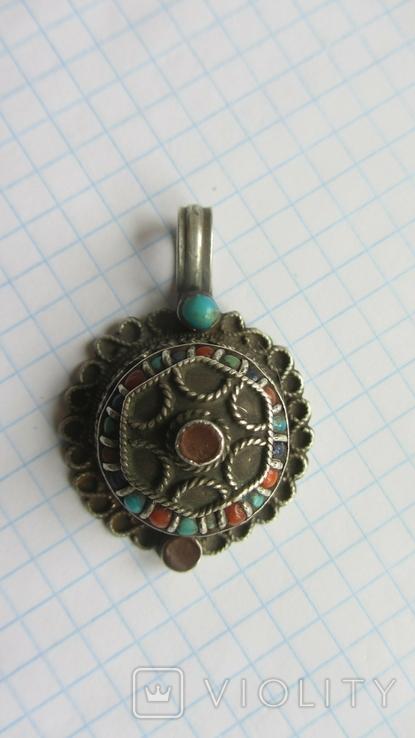 Старинный кулон. Тибет. Серебро., фото №5