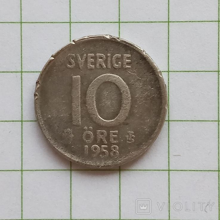 Швеция 10 эре 1958 год, фото №2