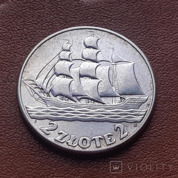 2 злотих 1936 15 років морському порту Гдиня, фото №4