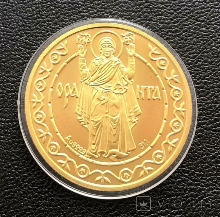 500 гривень 1996 рік. Оранта. Золото 31,1 грам. Банківський стан  000071, фото №6