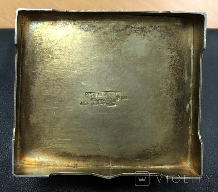 Серебряная солонка 84 пробы. Хлебников 1873 год (без соли без хлеба половина обеда), фото №9