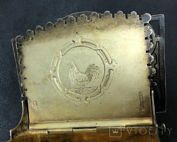 Серебряная солонка 84 пробы. Хлебников 1873 год (без соли без хлеба половина обеда), фото №12