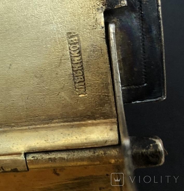 Серебряная солонка 84 пробы. Хлебников 1873 год (без соли без хлеба половина обеда), фото №13