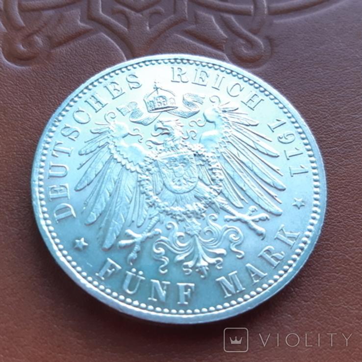 5 марок 1911 Бавария, фото №6