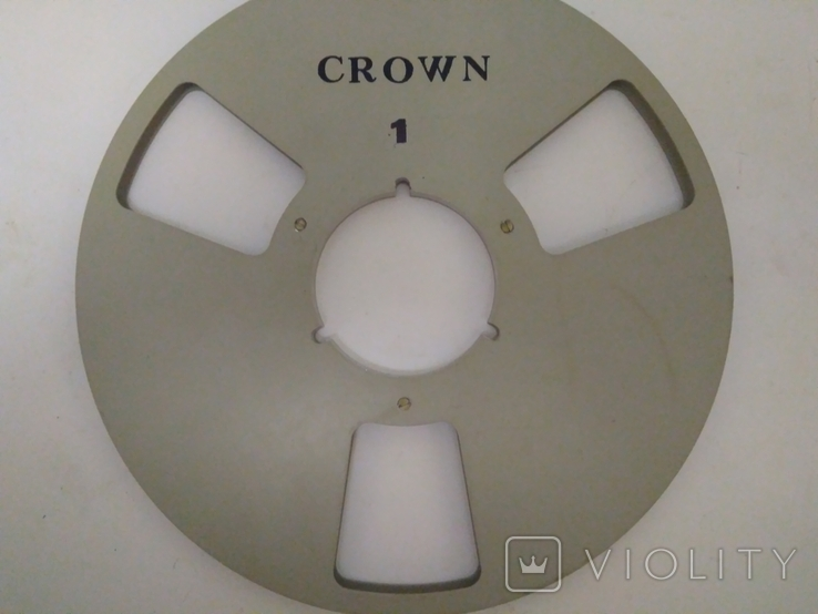 Бобина магнитофонная CROWN, металл, 1100м, фото №2