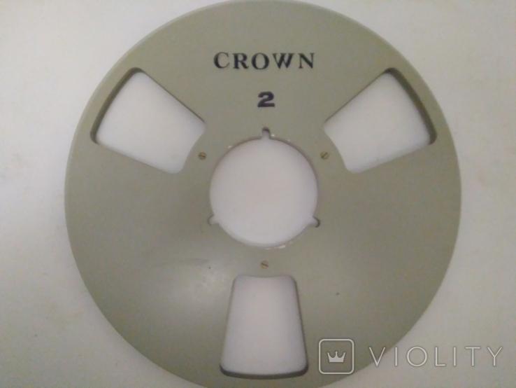 Бобина магнитофонная CROWN, металл, 1100м, фото №3