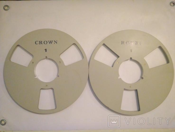 Бобина магнитофонная CROWN, металл, 1100м, фото №6