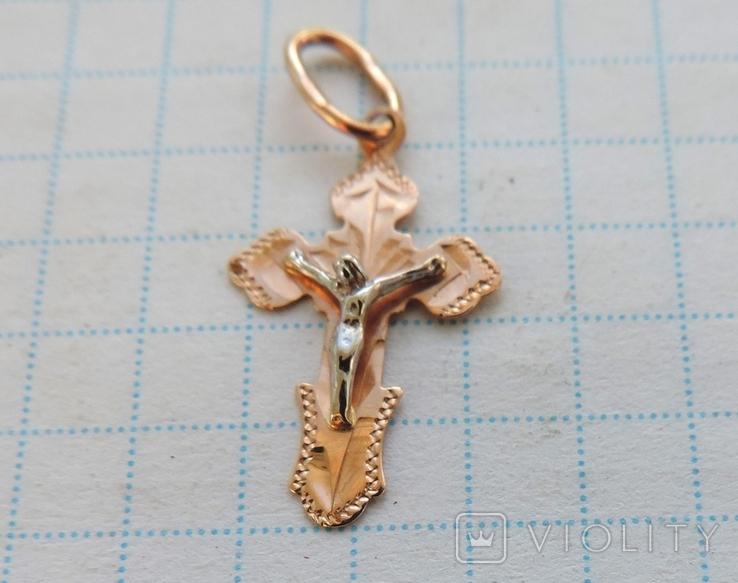 Крестик золото 585, фото №3