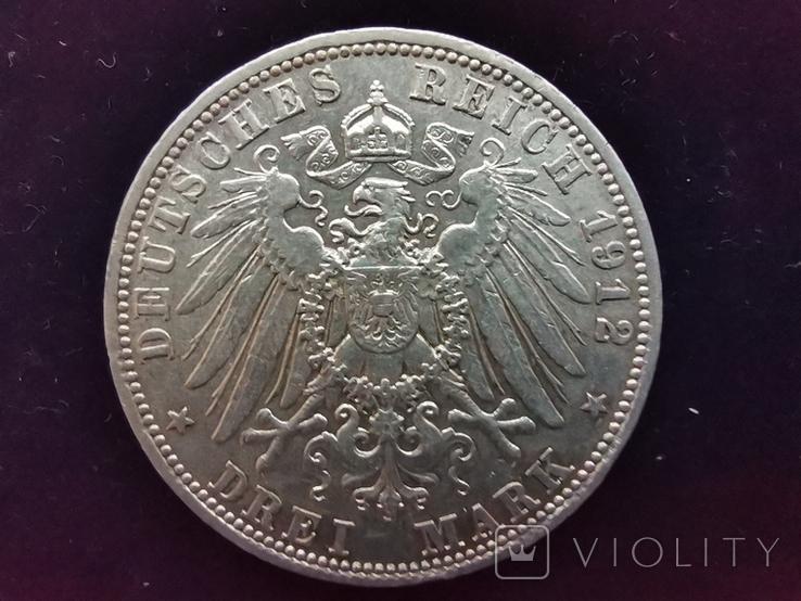 3 марки Бавария 1912г., фото №2