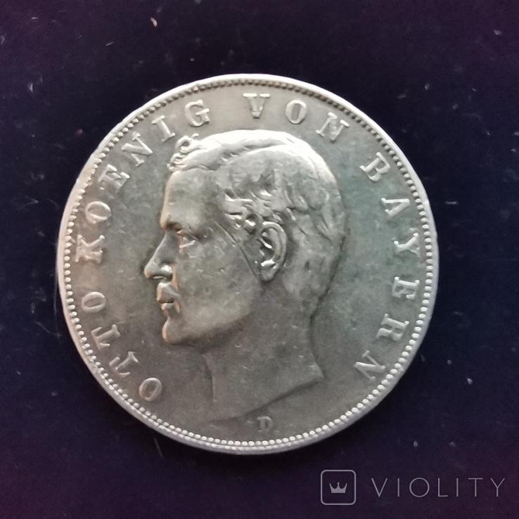 3 марки Баварія 1910 г., фото №3