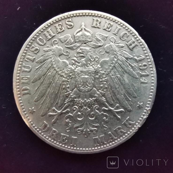 3 марки Баден 1914 г., фото №2
