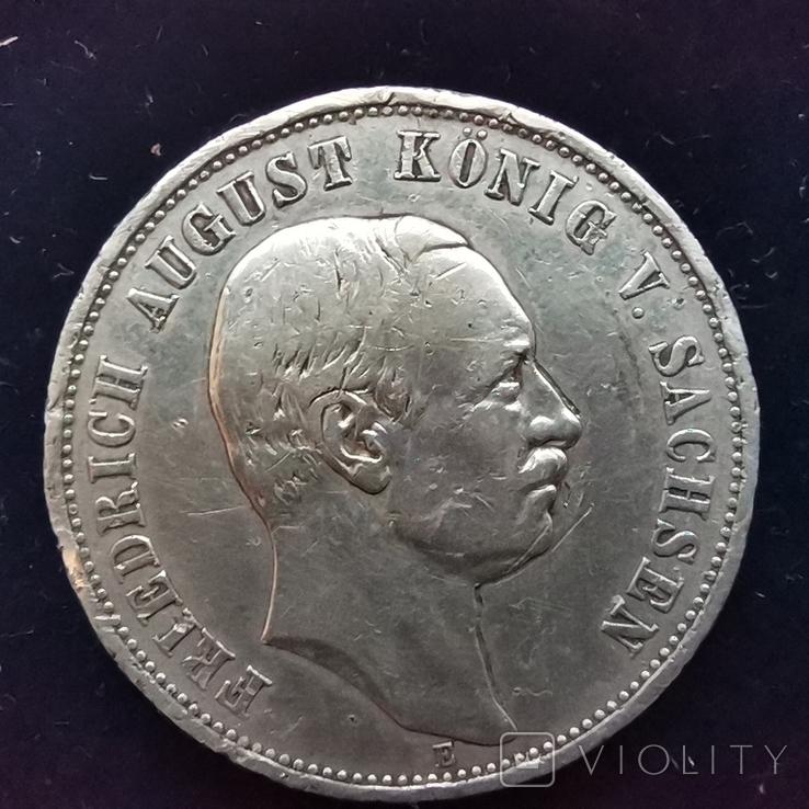 3 марки Саксония 1913 г., фото №2
