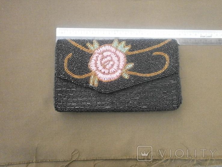 Театральная сумочка вышитая бисером, фото №2
