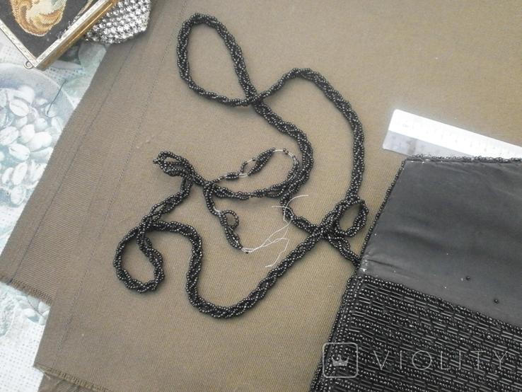 Театральная сумочка вышитая бисером, фото №6