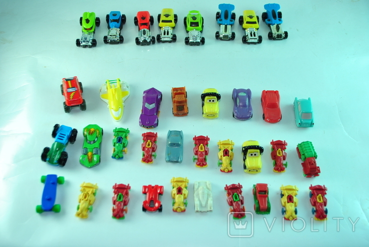Игрушки - машинки 36 шт из киндер сюрприза, фото №2