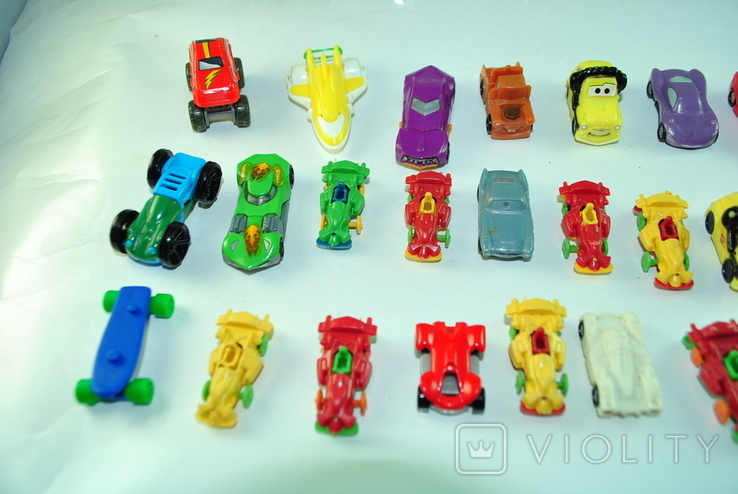 Игрушки - машинки 36 шт из киндер сюрприза, фото №4