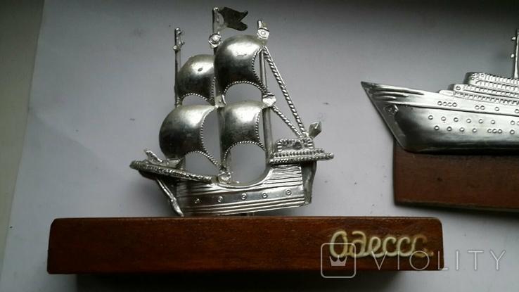 Сувениры настольные Одесса корабли 3шт, фото №6