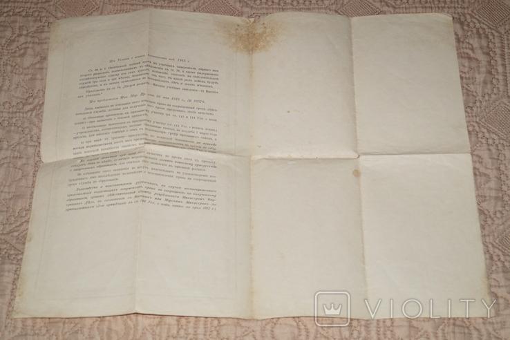 Аттестат Брежнева 1917 год.(Водяные знаки)., фото №7