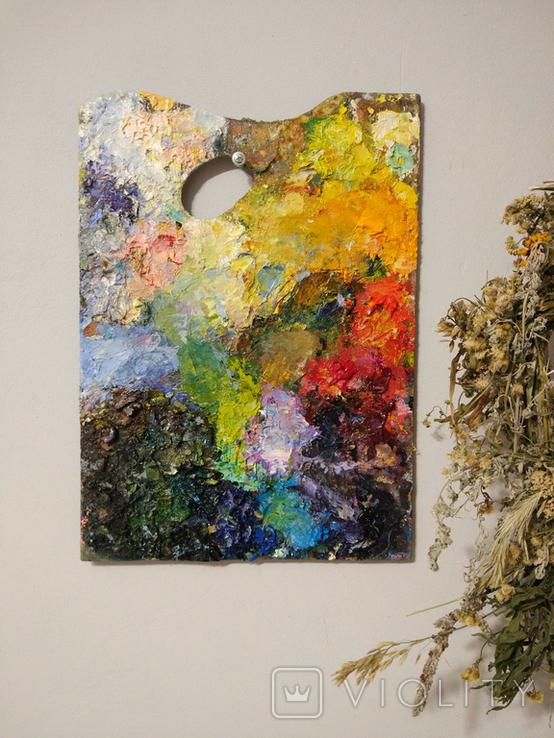 Настоящая палитра(2) художника.Продается как арт-обьект., фото №3