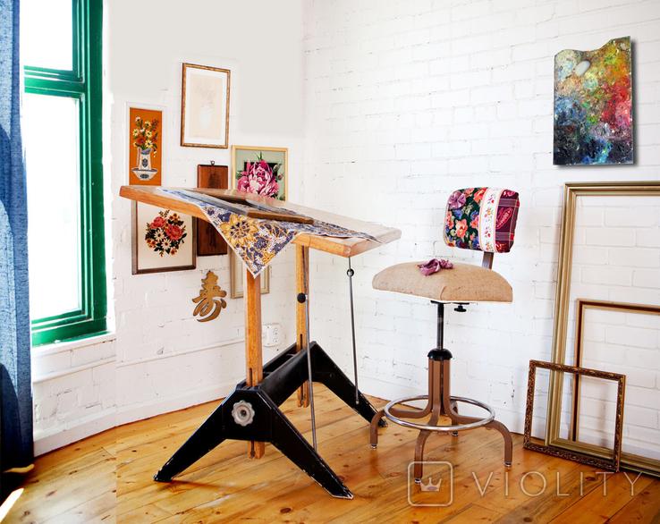 Настоящая палитра(2) художника.Продается как арт-обьект., фото №5