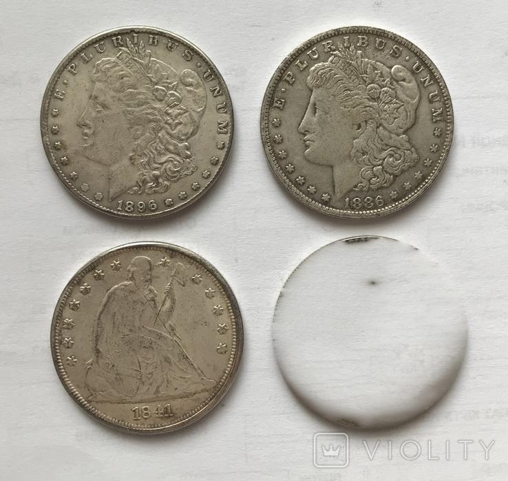 1 доллар. Копии редких годов., фото №3