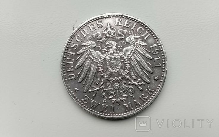 2 марки 1911 г. Бавария 90-летие Луитпольда, фото №3