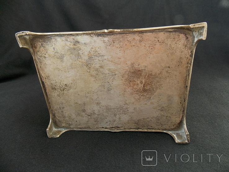 Немецкая серебряная шкатулка мастерской Вильгельма Биндера 800*, фото №6